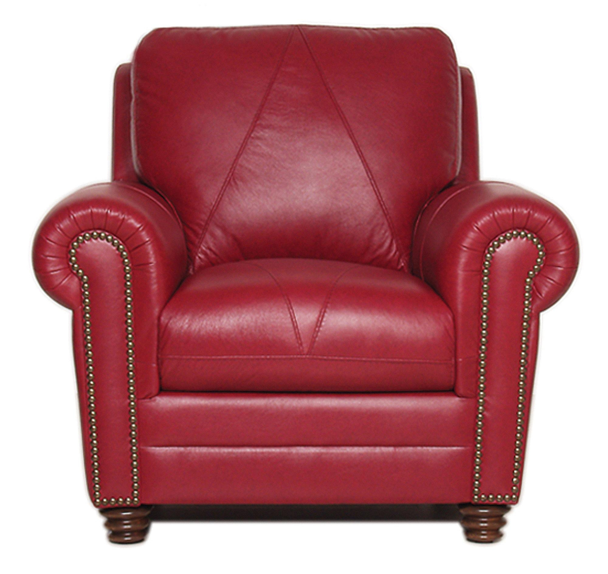 Weston Collection – Luke Leather Furniture In Red Sofas And Chairs (Image 20 of 20)
