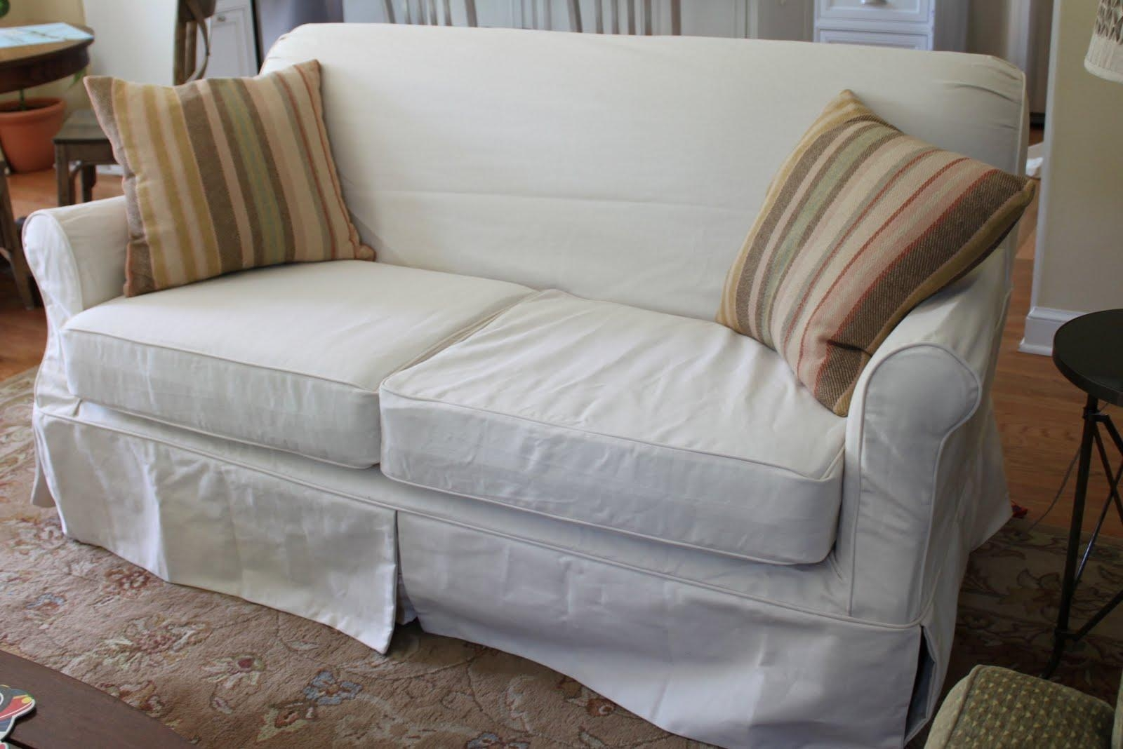 White Denim Slipcover Couches | Tehranmix Decoration Intended For Denim Sofa Slipcovers (View 14 of 20)