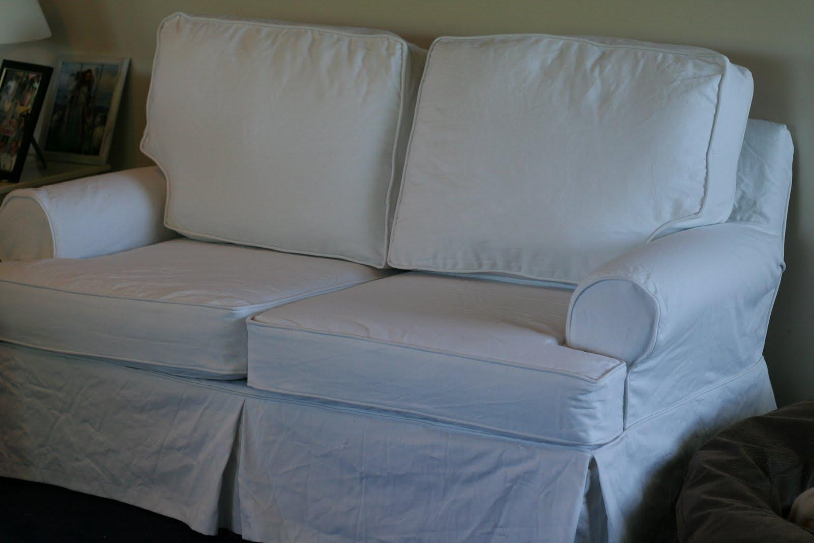 White Denim Slipcover Couches | Tehranmix Decoration With Regard To Denim Loveseats (View 10 of 20)
