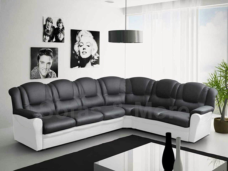 White Faux Leather Corner Sofa | Tehranmix Decoration In Black Corner Sofas (View 13 of 20)