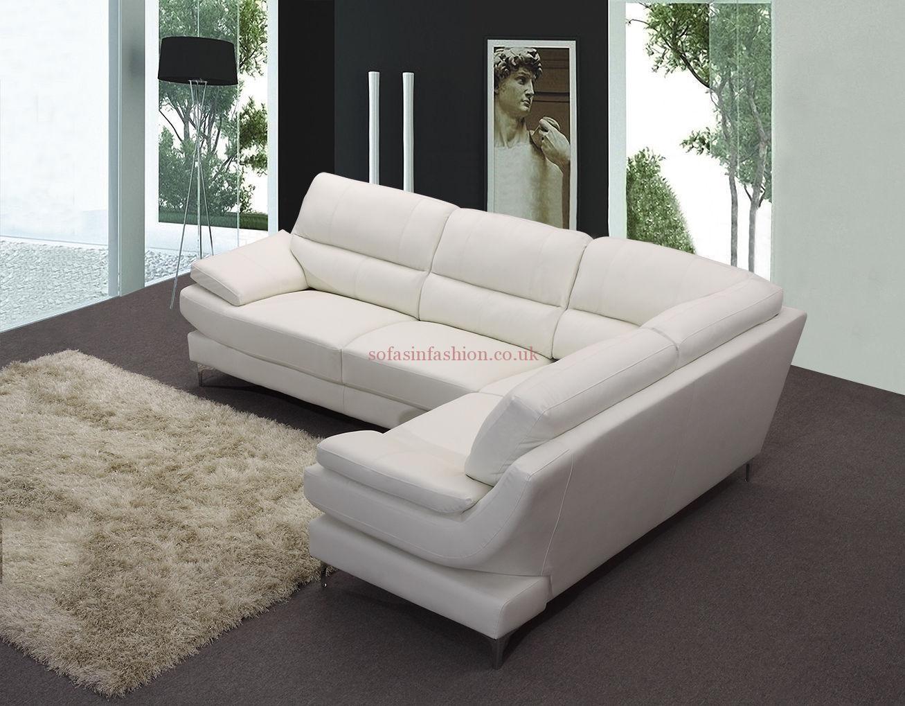 White Faux Leather Corner Sofa | Tehranmix Decoration With White Leather Corner Sofa (View 8 of 20)