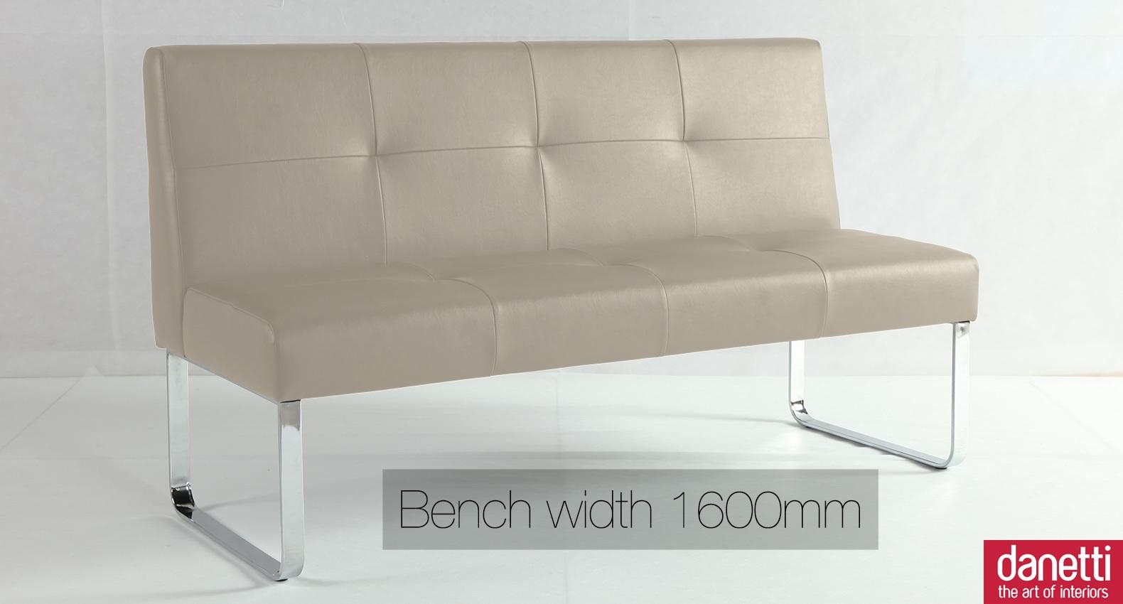 White High Back Dining Bench | Bench Decoration Regarding Sofas With High Backs (Image 20 of 20)