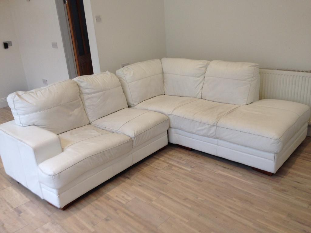 White Leather Corner Sofa | In Sunderland, Tyne And Wear | Gumtree With White Leather Corner Sofa (View 17 of 20)