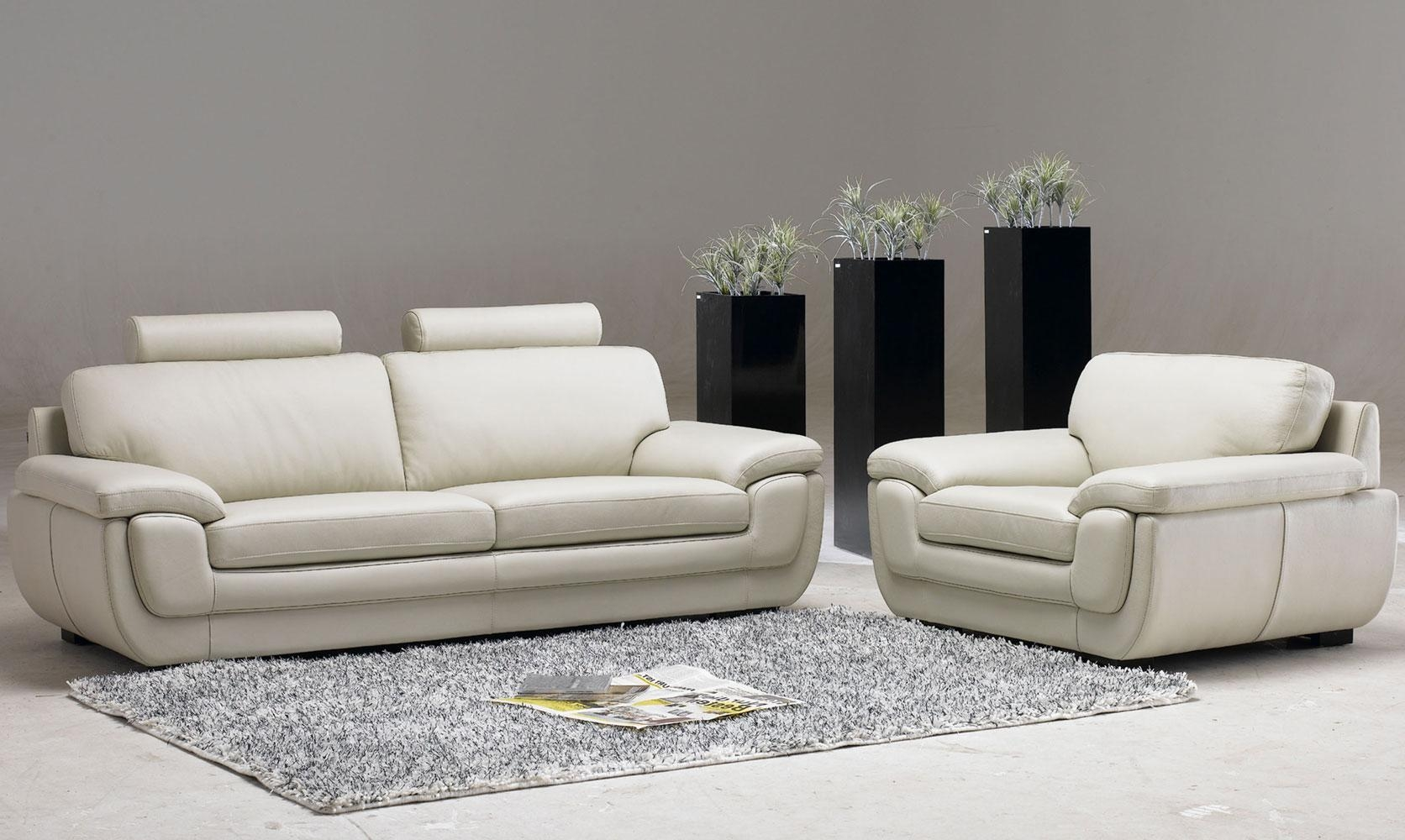 White Leather Living Room Chair White Living Room Furniture Sets With Regard To Living Room Sofa And Chair Sets (Image 20 of 20)