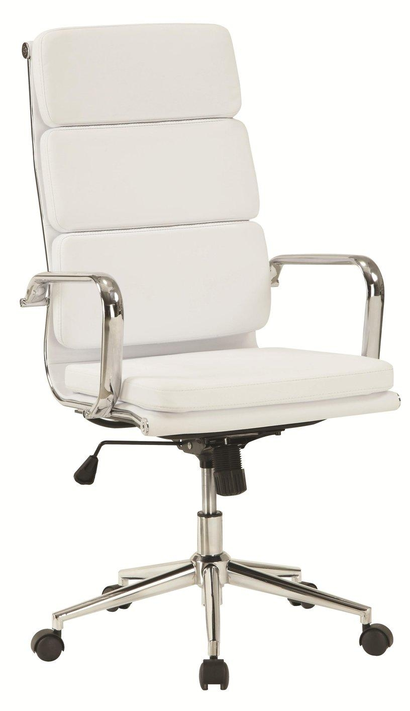 White Leather Office Chair – Steal A Sofa Furniture Outlet Los Within Sofa Desk Chairs (Image 20 of 20)