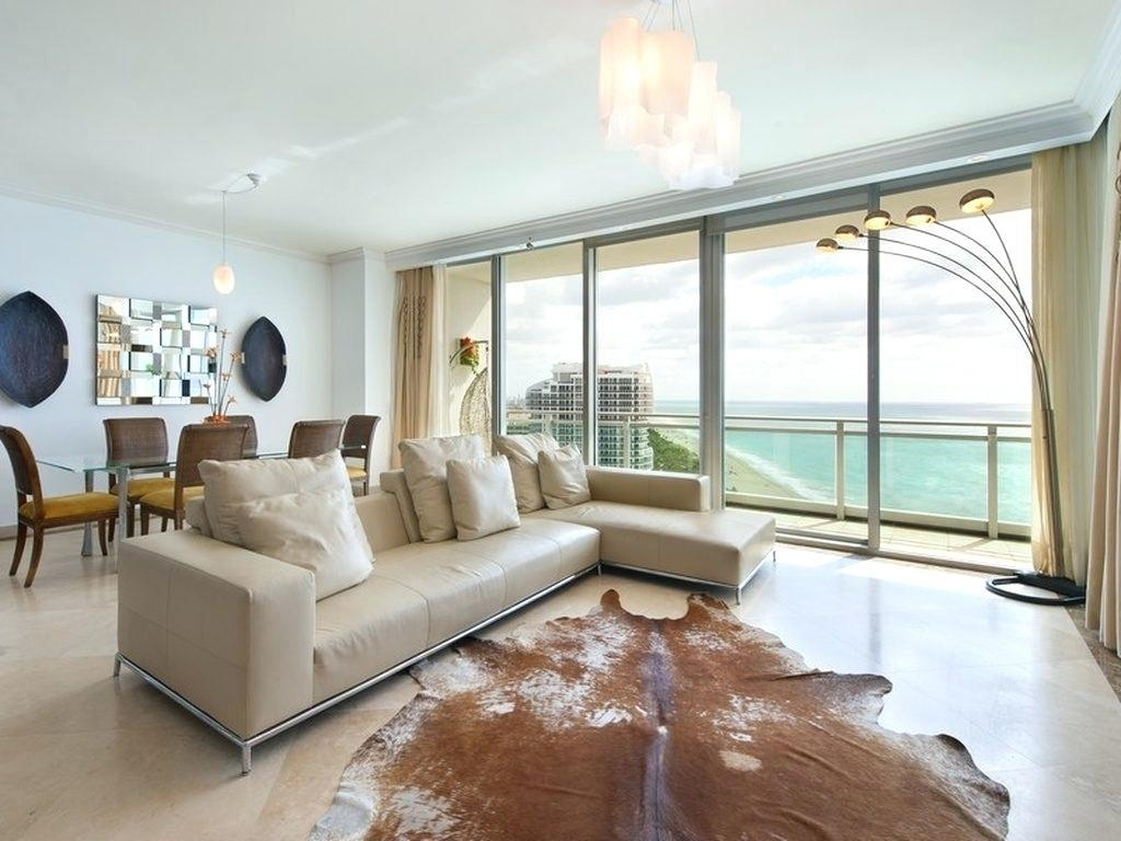 White Leather Sofa Bed Apartment Glass Window With Long Curtain In In Window Sofas (View 8 of 20)