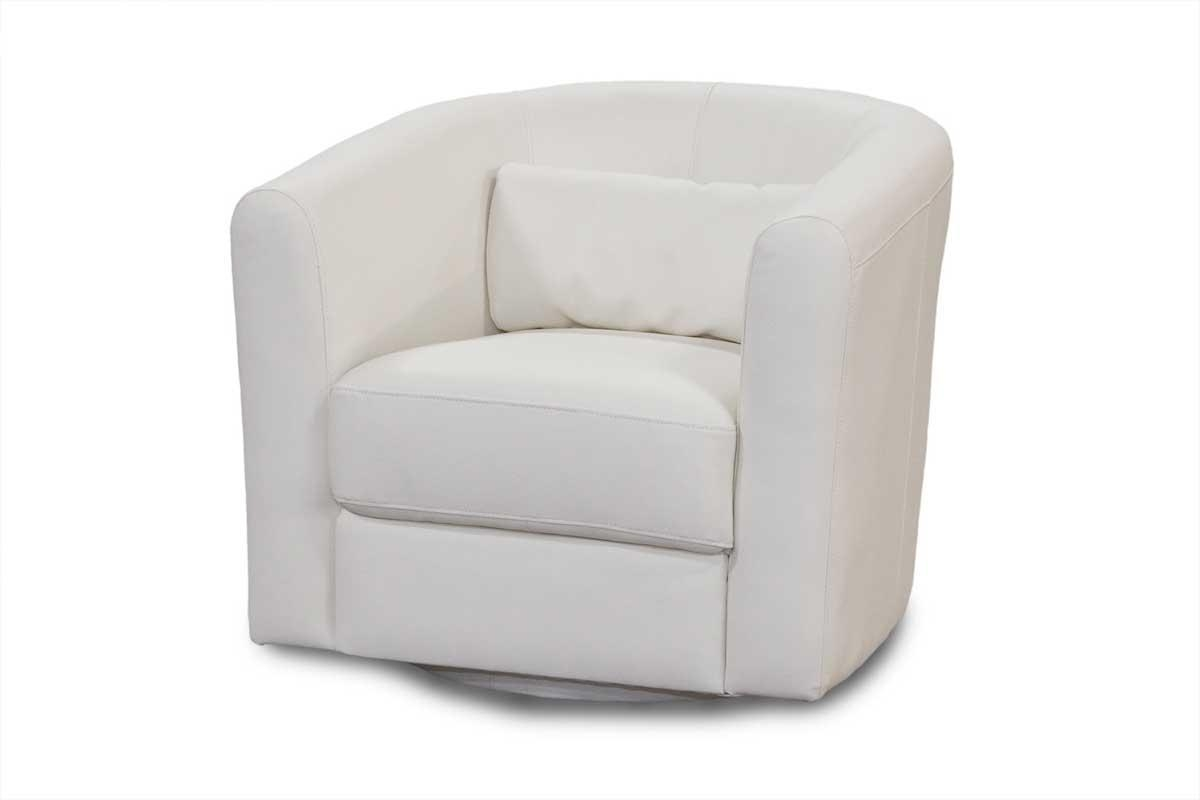 White Leather Sofa Chair | Tehranmix Decoration Regarding White Sofa Chairs (View 9 of 20)