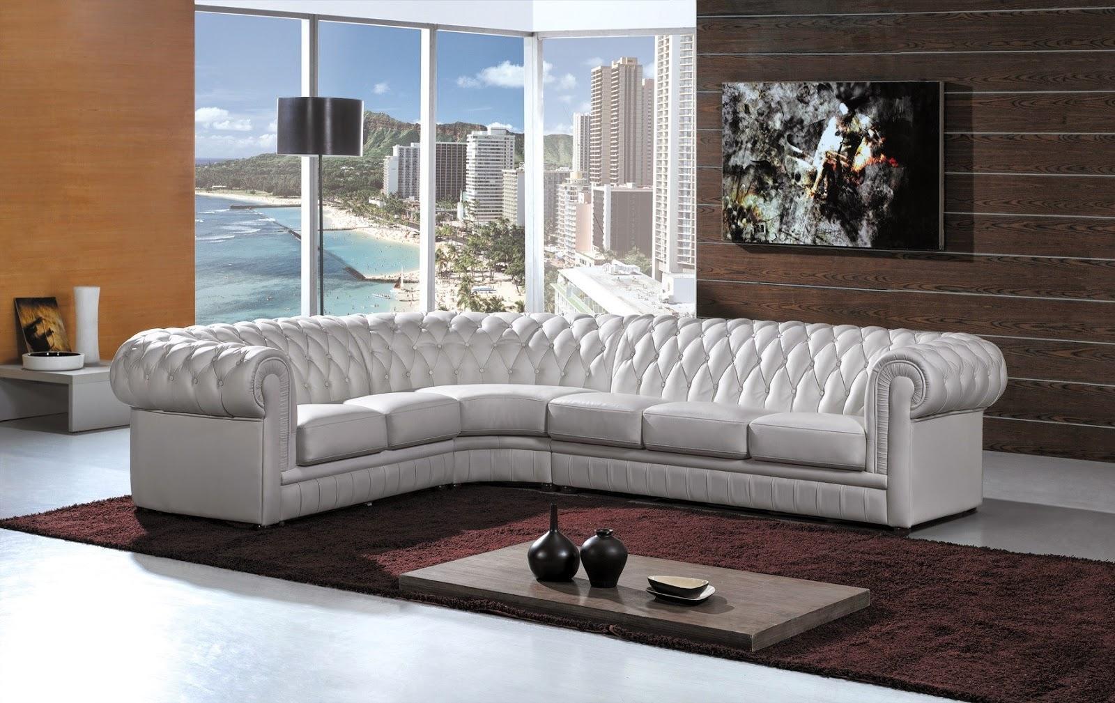 White Leather Sofa Pertaining To White Leather Corner Sofa (View 18 of 20)