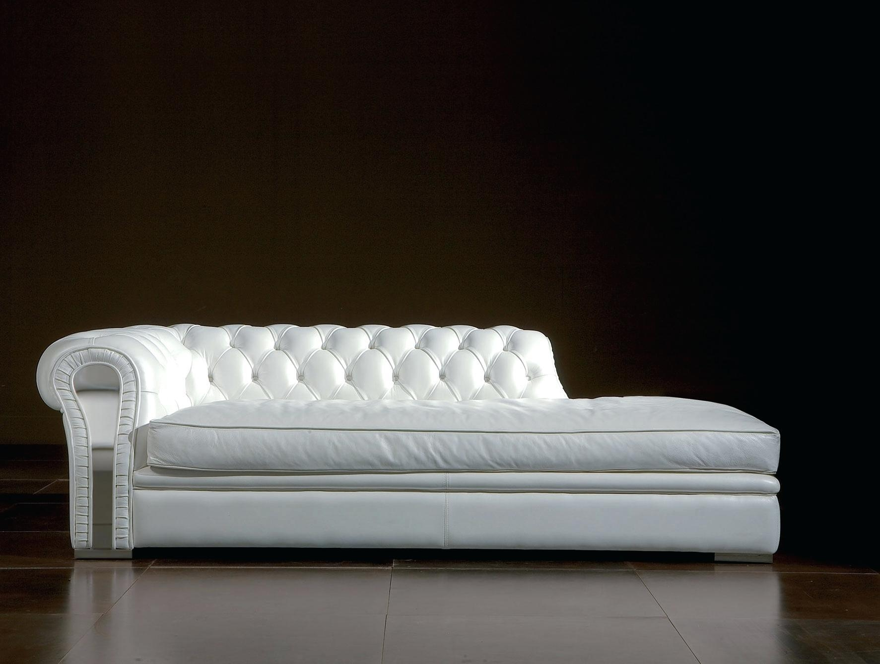 White Leather Sofa With Chaise – Lenspay With Long Chaise Sofa (View 11 of 20)