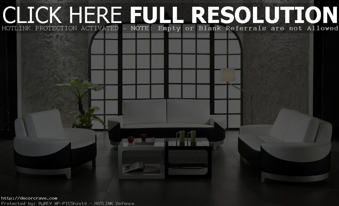 White Living Room Furniture Living Room Design And Living Room Ideas Intended For Sofas Black And White Colors (Image 20 of 20)