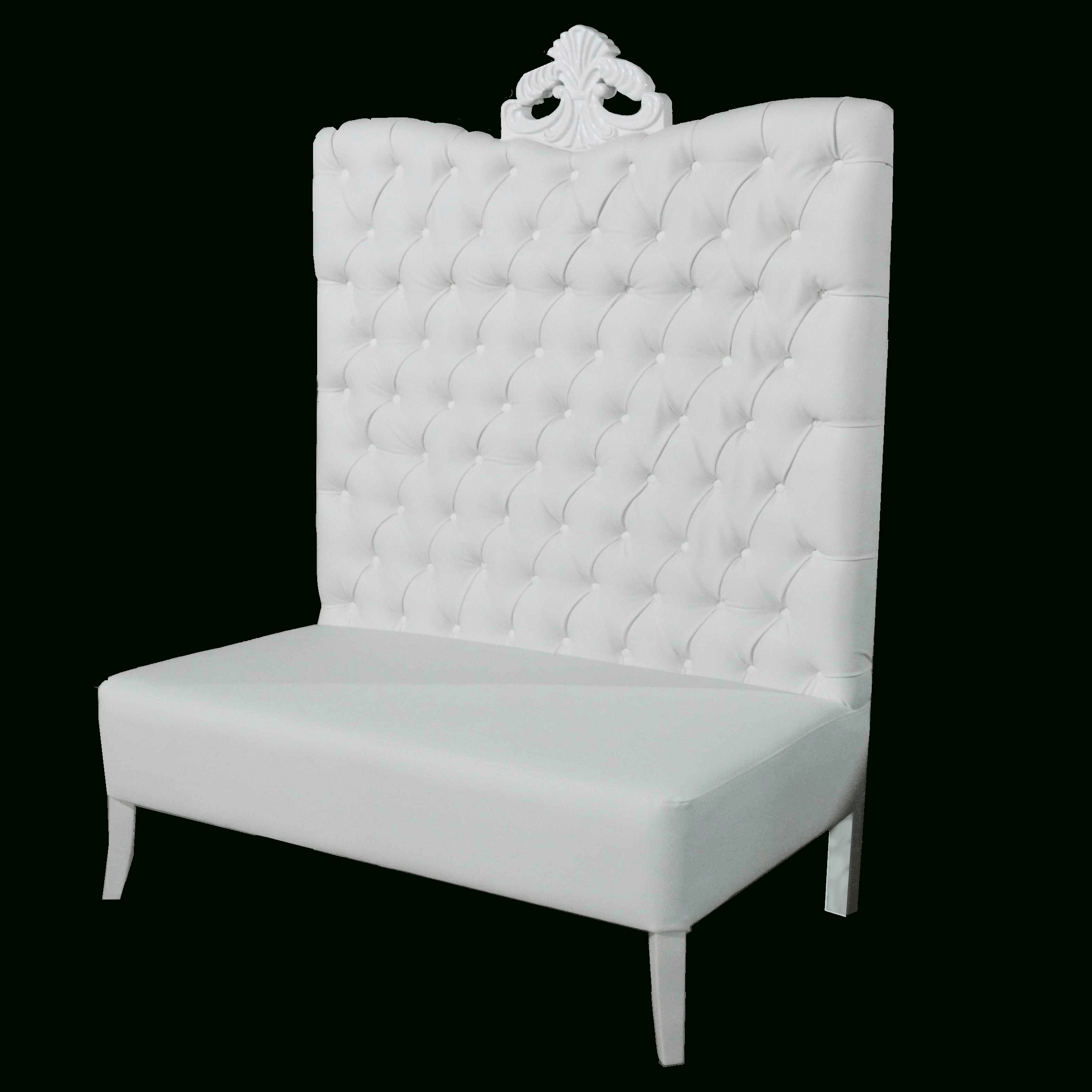 White Luxe Line High Back Sofa – Luxe Event Rental Regarding High Back Sofas And Chairs (Image 20 of 20)