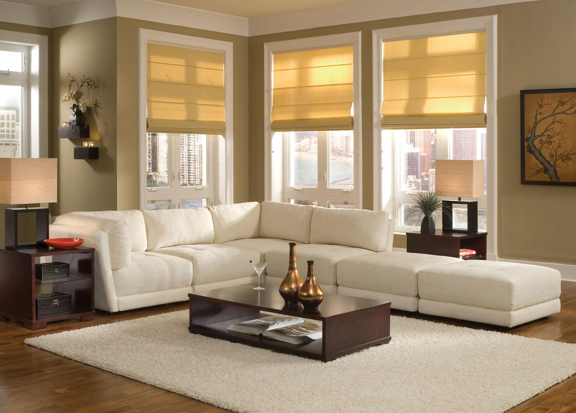 White Sofa Design Ideas & Pictures For Living Room With Regard To Decorating With A Sectional Sofa (Image 15 of 15)