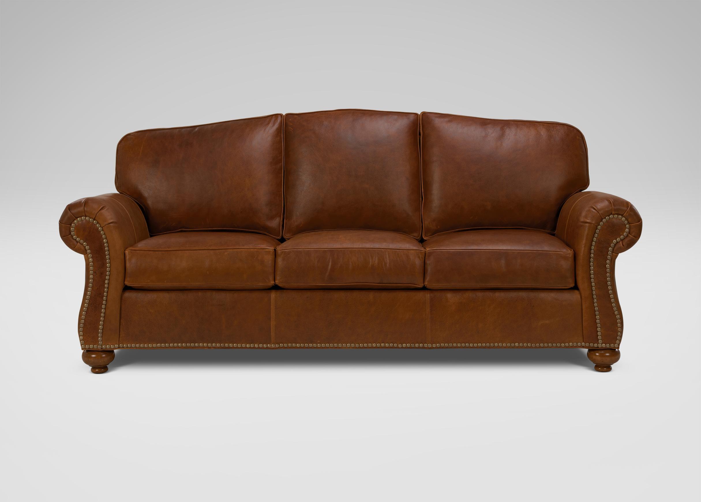 Whitney Leather Sofa   Sofas & Loveseats Throughout Ethan Allen Whitney Sofas (Image 18 of 20)