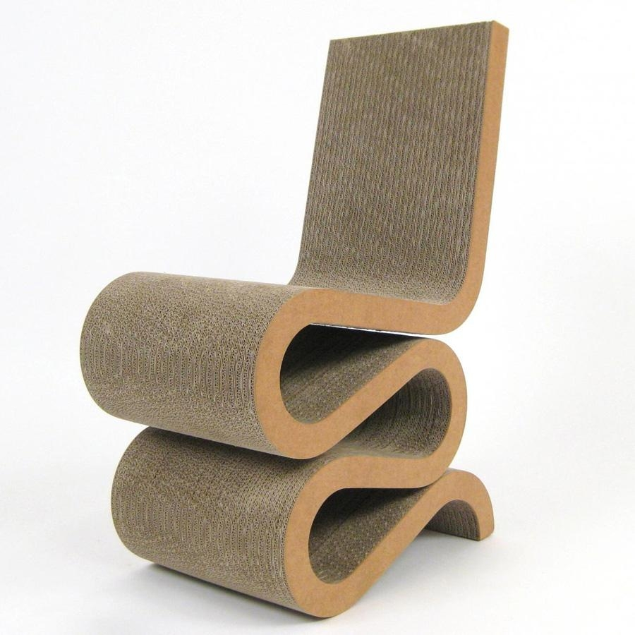 Wiggle Frank Gehry's Wiggle Chair Masterpiece – Cardboard Chair With Cardboard Sofas (Image 20 of 20)