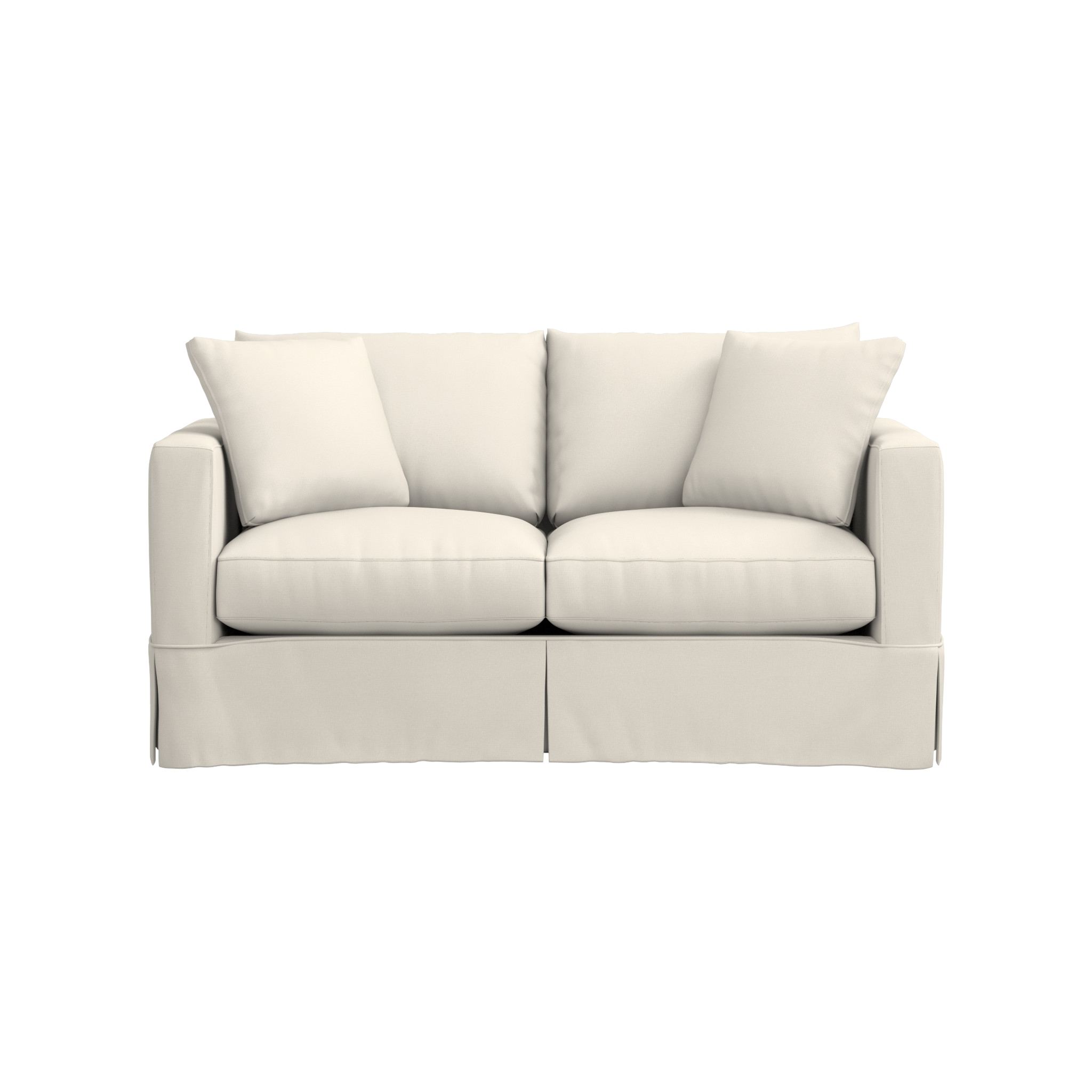 Willow White Couch With Pull Out Bed | Crate And Barrel For Crate And Barrel Sofa Sleepers (Image 20 of 20)