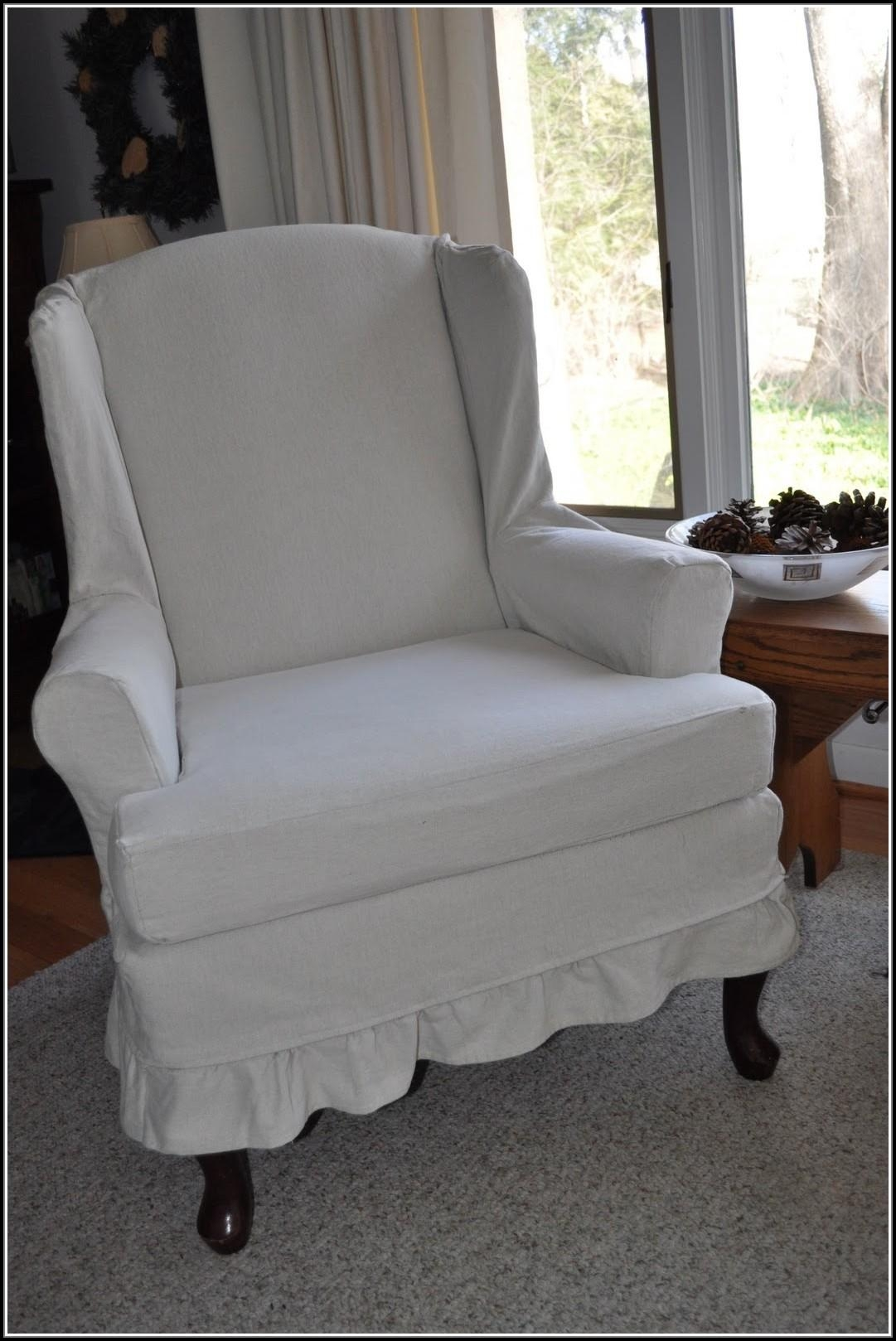 Wingback Chair Slipcovers Pottery Barn – Chair : Home Furniture With Pottery Barn Chair Slipcovers (View 9 of 20)