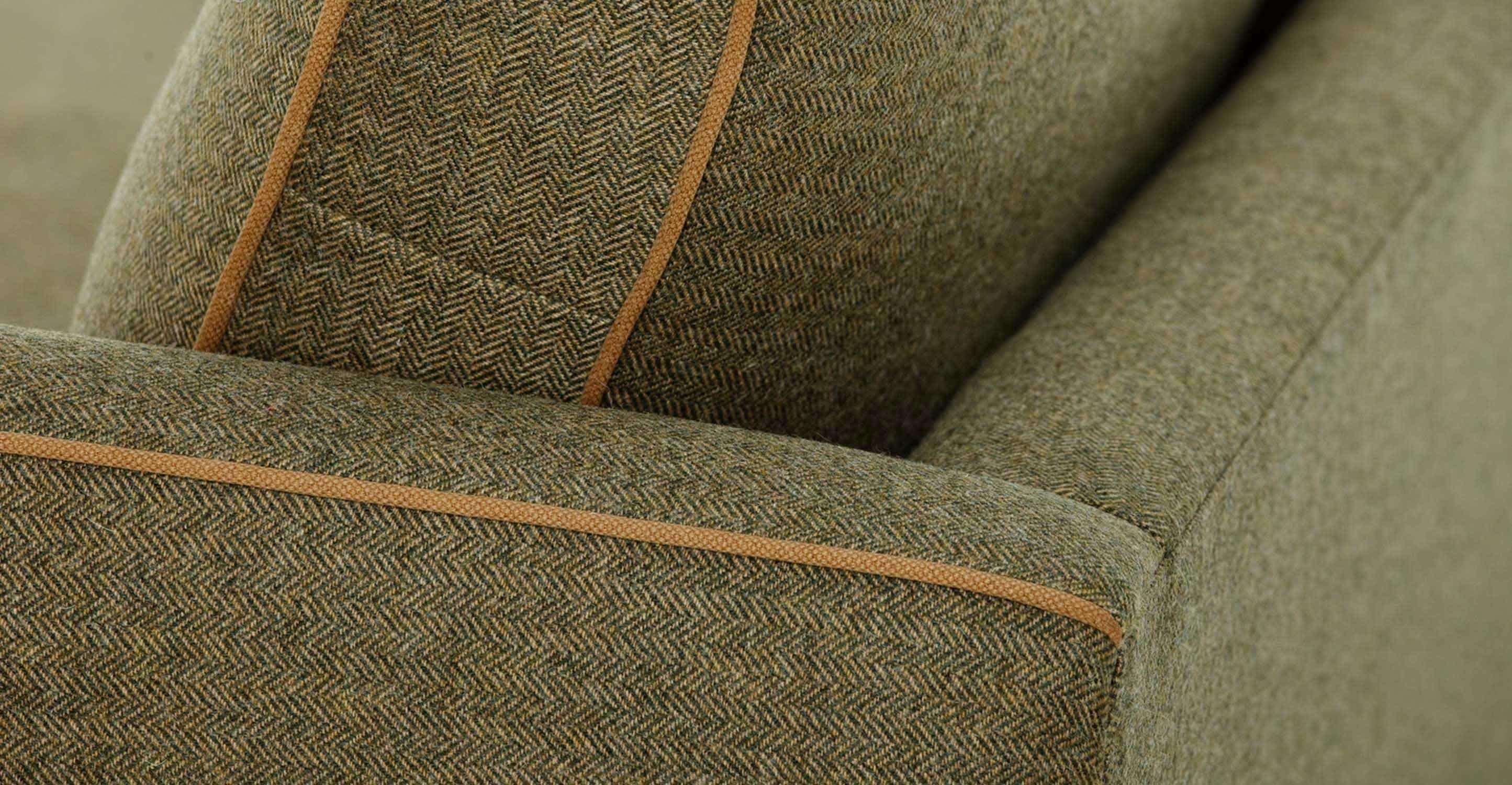 Wolseley 3 Seater Sofa In Wool Tweed | Made Throughout Tweed Fabric Sofas (Image 19 of 20)
