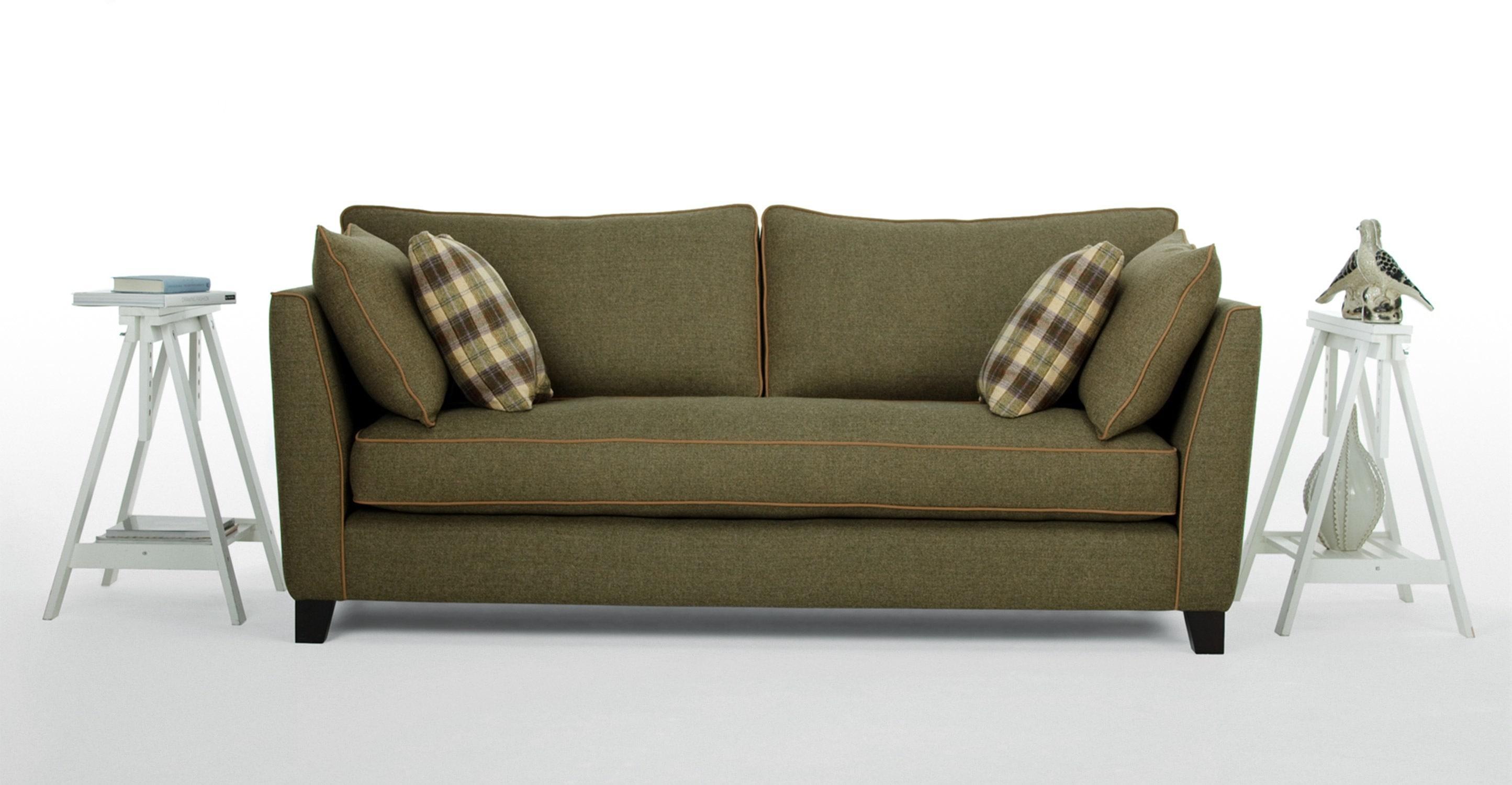 Wolseley 3 Seater Sofa In Wool Tweed | Made Throughout Tweed Fabric Sofas (Image 18 of 20)