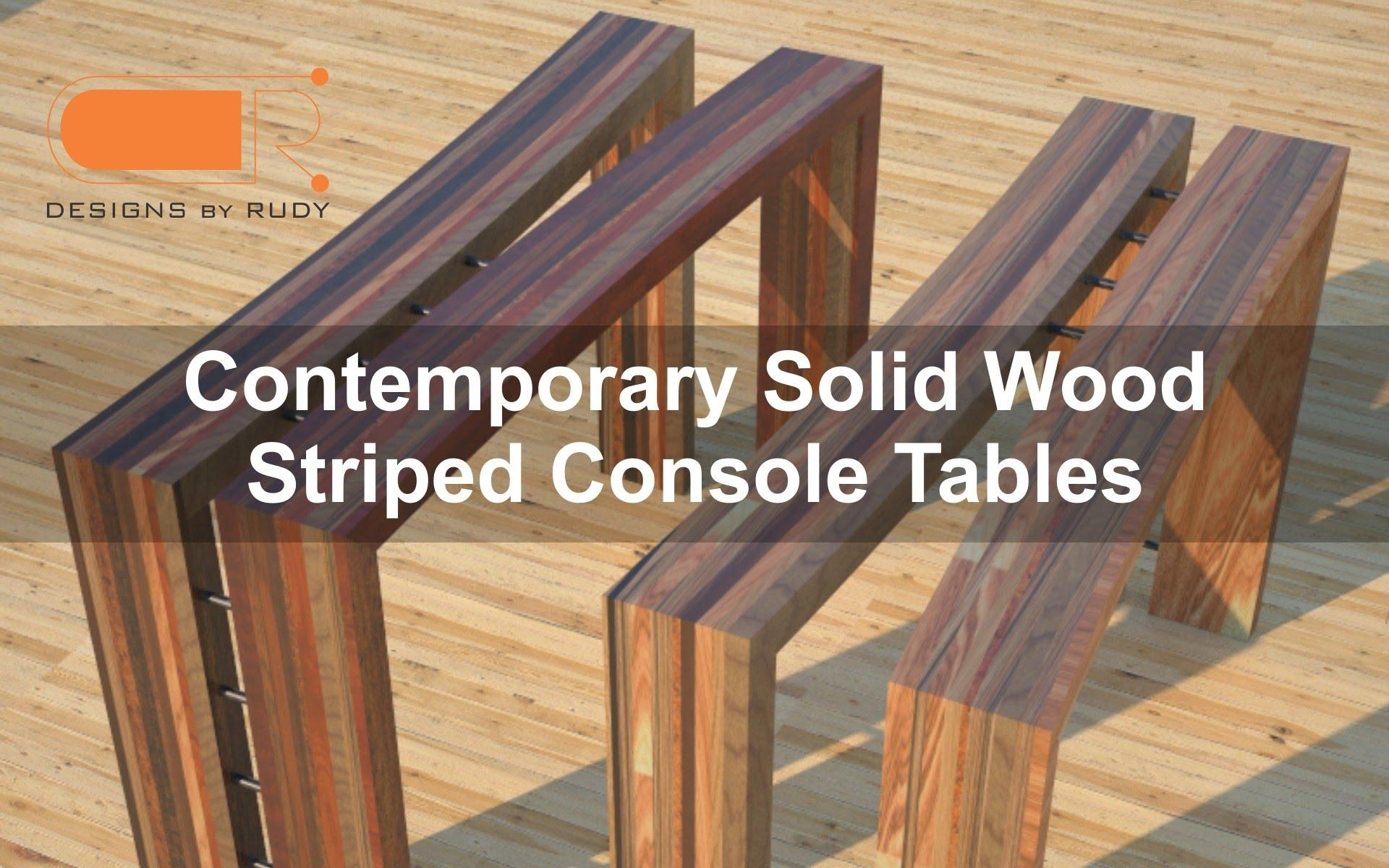 Wood Console Table, Foyer Furniture, Behind The Couch Table – Youtube In Slim Sofa Tables (View 7 of 20)