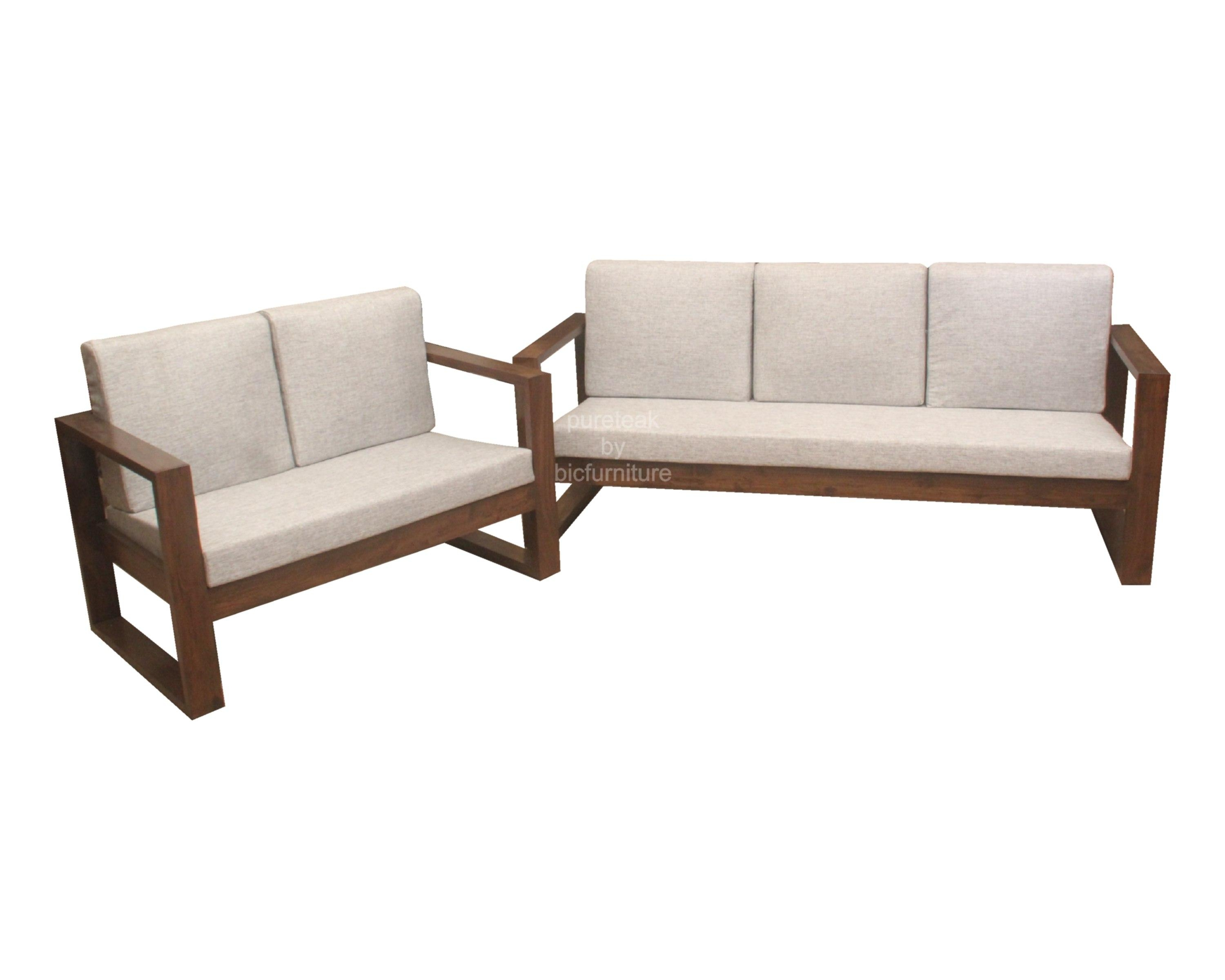 Wooden Sofa Set In Simple Design (Ws 67) Details | Bic Furniture With Simple Sofas (Photo 8 of 20)