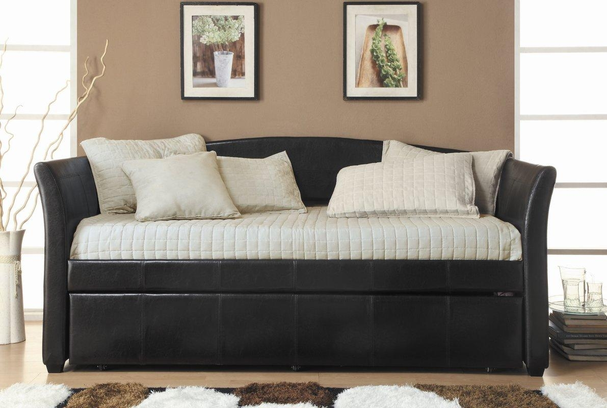 Woodhaven Hill Meyer Daybed With Trundle & Reviews | Wayfair With Regard To Sofas Daybed With Trundle (Image 20 of 20)
