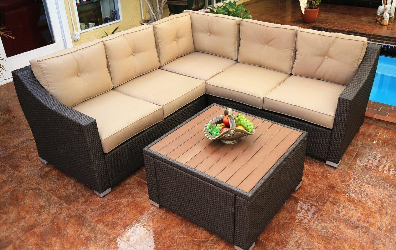 Worldwidewicker Tampa 6 Piece Deep Seating Group With Cushion For Deep Cushion Sofa (Image 20 of 20)