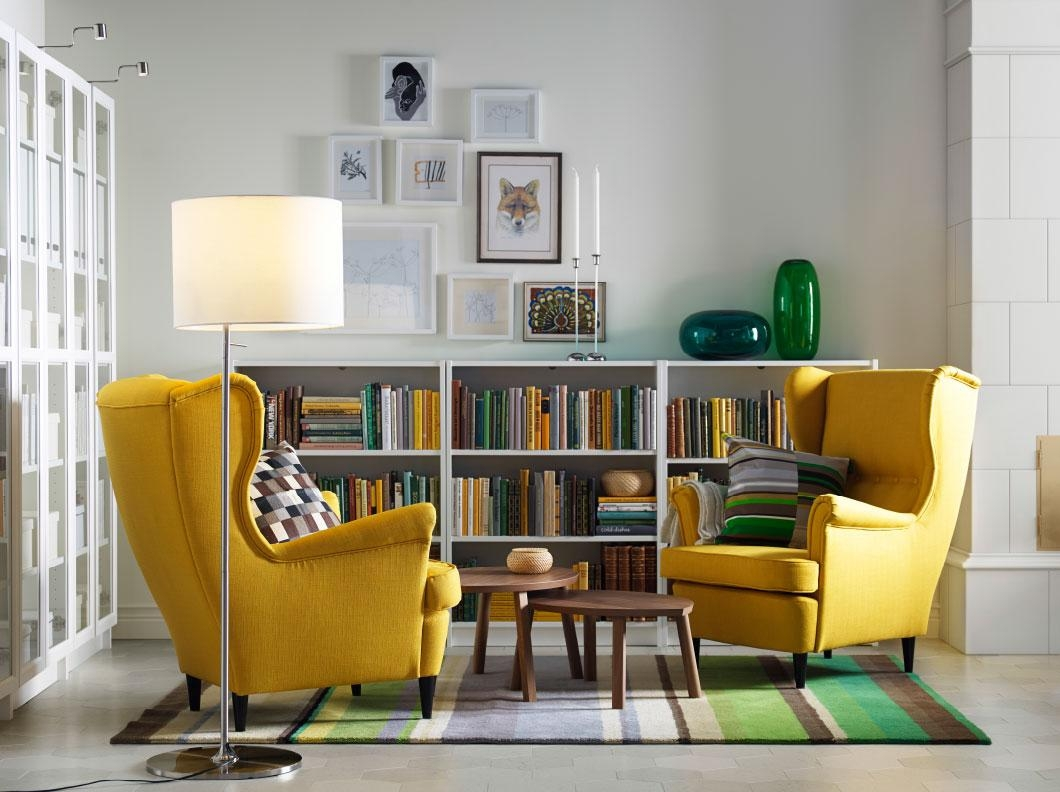 Yellow Upholstered Arm Chair Grey Living Room With Yellow Sofa And Intended For Yellow Sofa Chairs (Image 20 of 20)