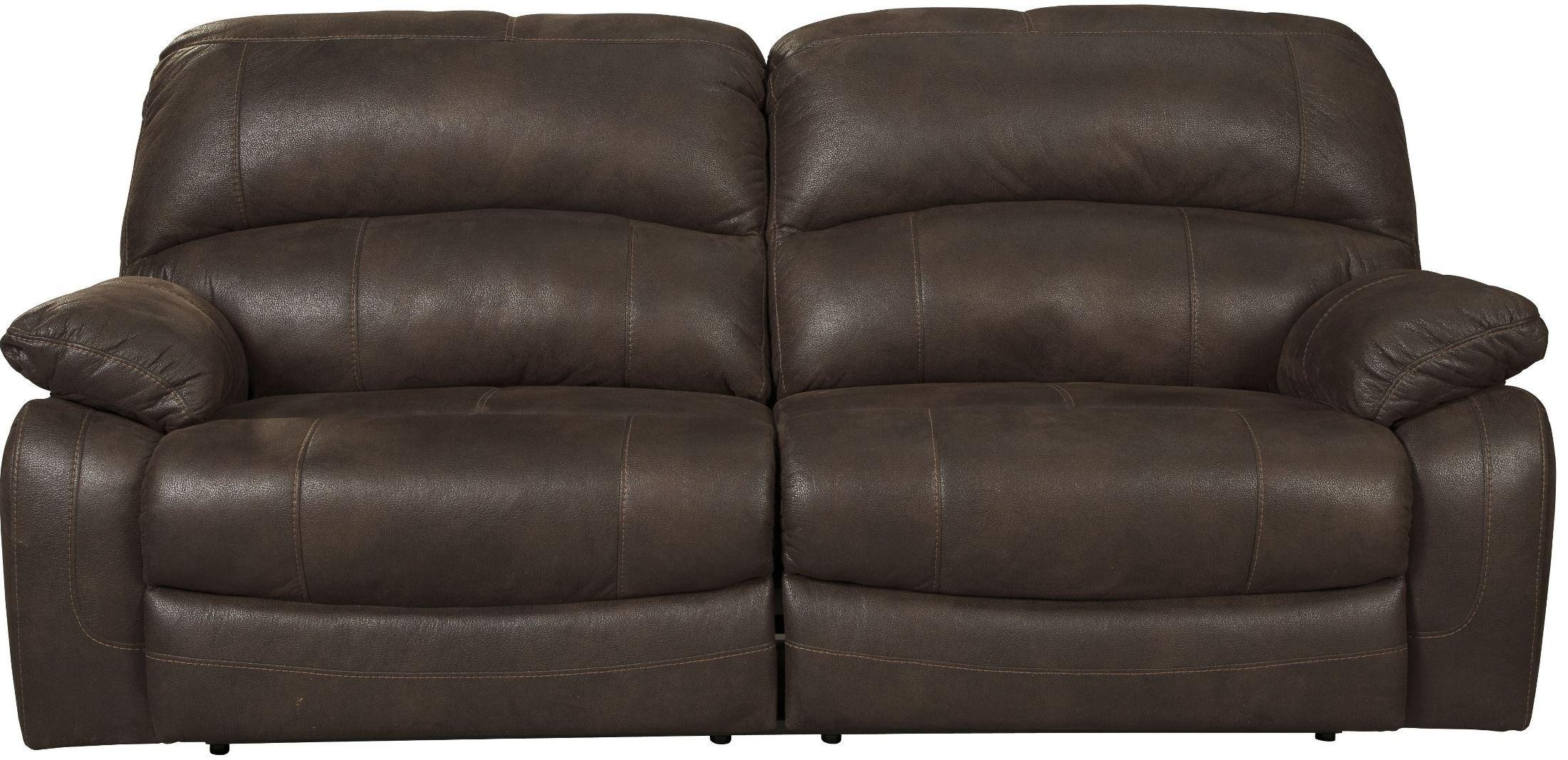 Zavier Truffle 2 Seat Power Reclining Sofa From Ashley (4290147 With 2 Seat Recliner Sofas (Photo 8 of 20)