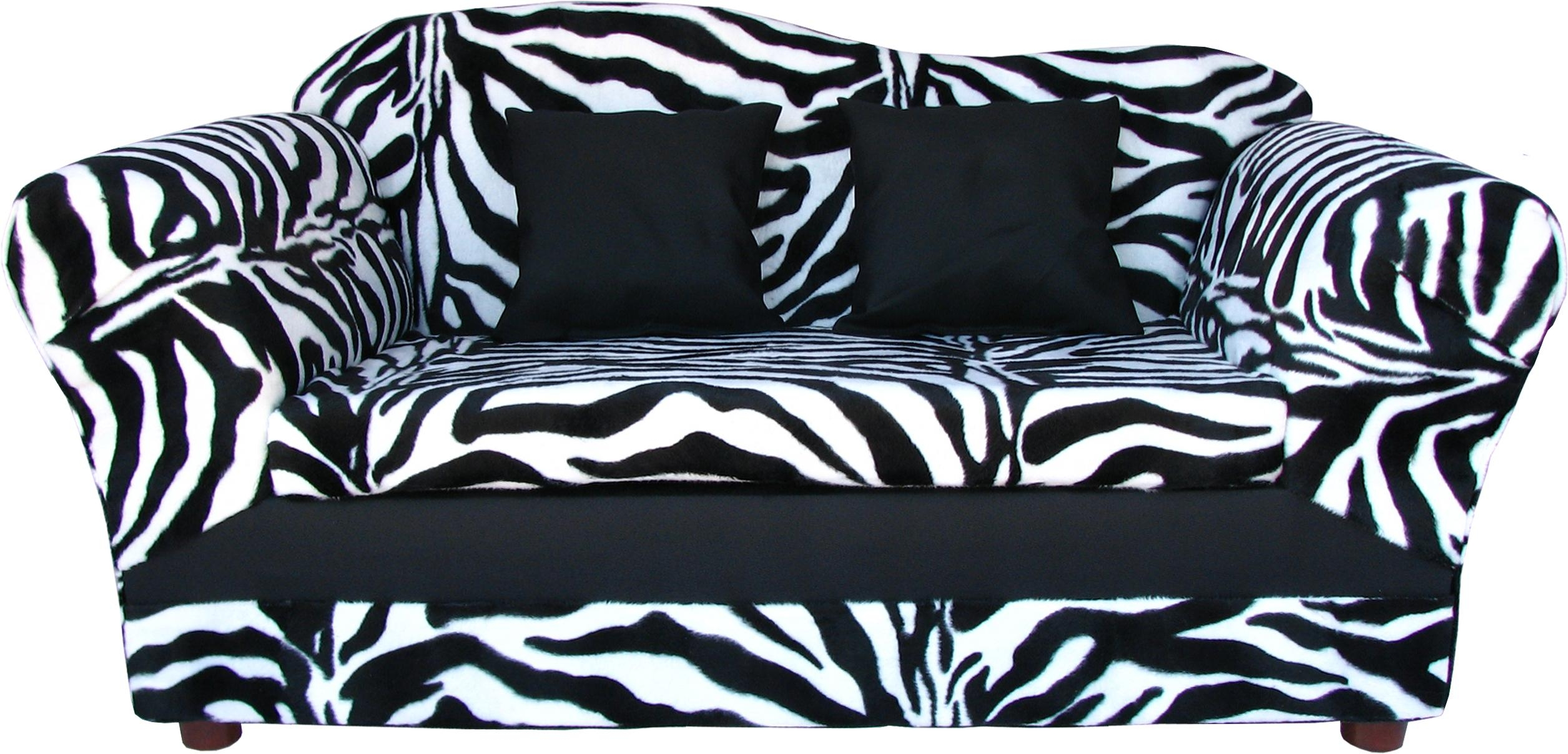 Zebra Sofa 79 With Zebra Sofa | Jinanhongyu With Regard To Kids Sofa Chair And Ottoman Set Zebra (Image 20 of 20)