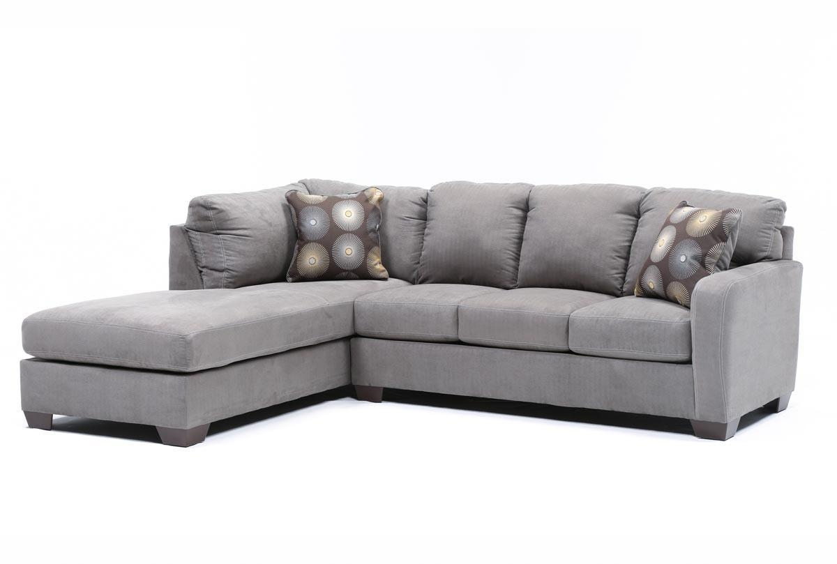 Zella Charcoal 2 Piece Sectional W/laf Chaise – Living Spaces For Small 2 Piece Sectional (View 12 of 20)