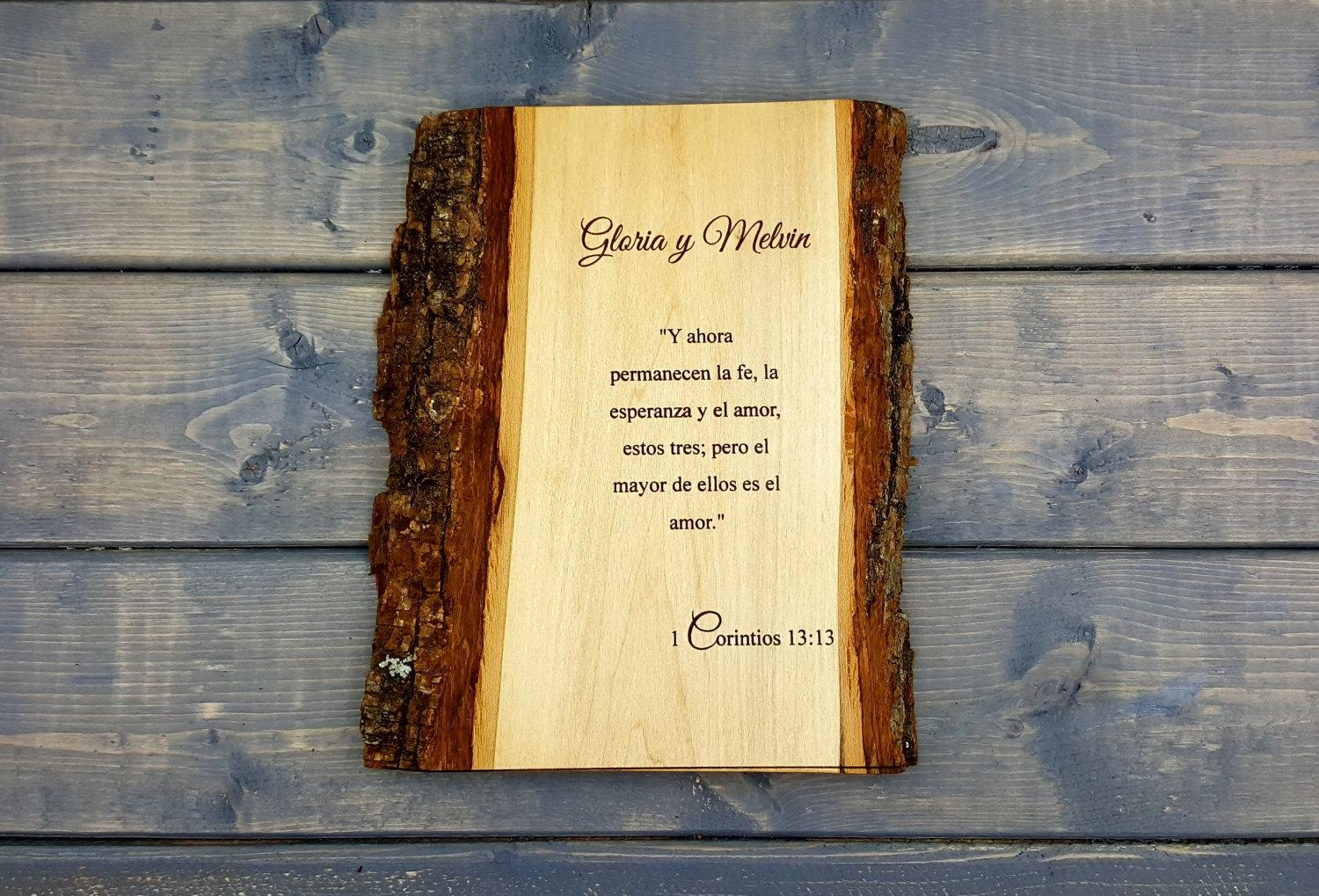 1 Corinthians 13:13 Wall Plaque, Personalized Wall Plaque Throughout Inspirational Wall Plaques (View 18 of 20)
