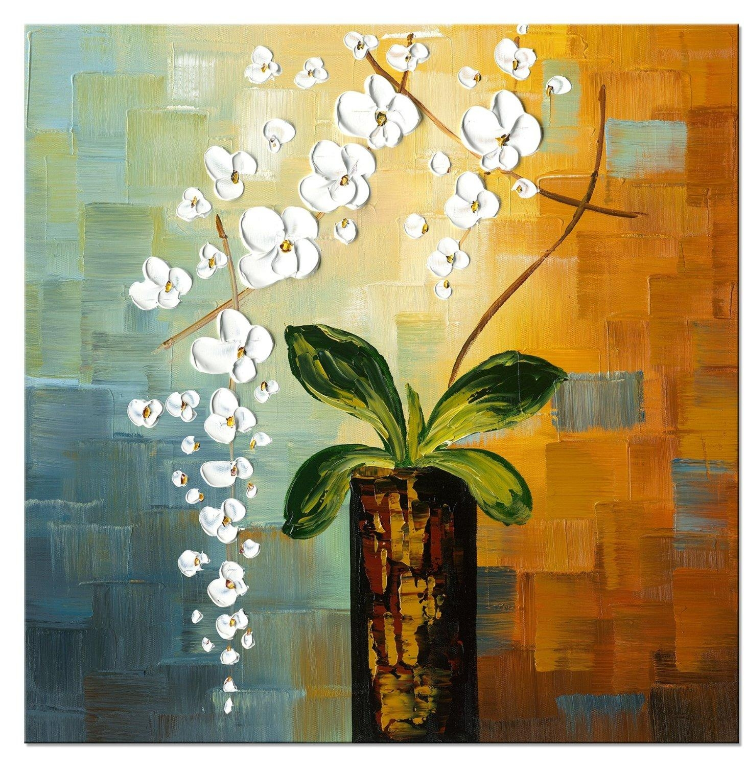 20 best ideas oil painting wall art on canvas wall art ideas for Flower paintings on canvas