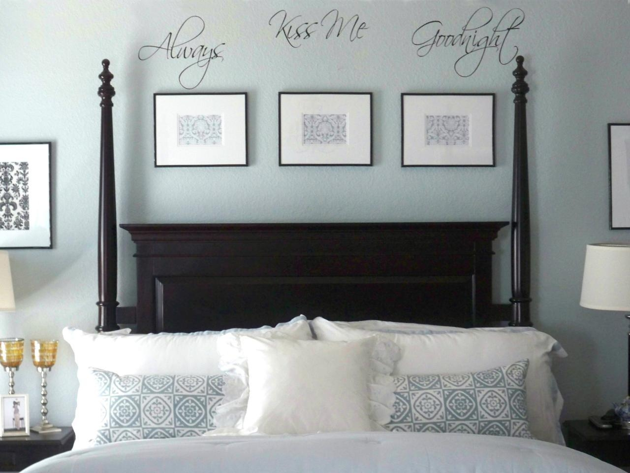 10 Ideas For Decorating Over The Bed Popsugar Home. Tags Above The within Over The Bed Wall Art