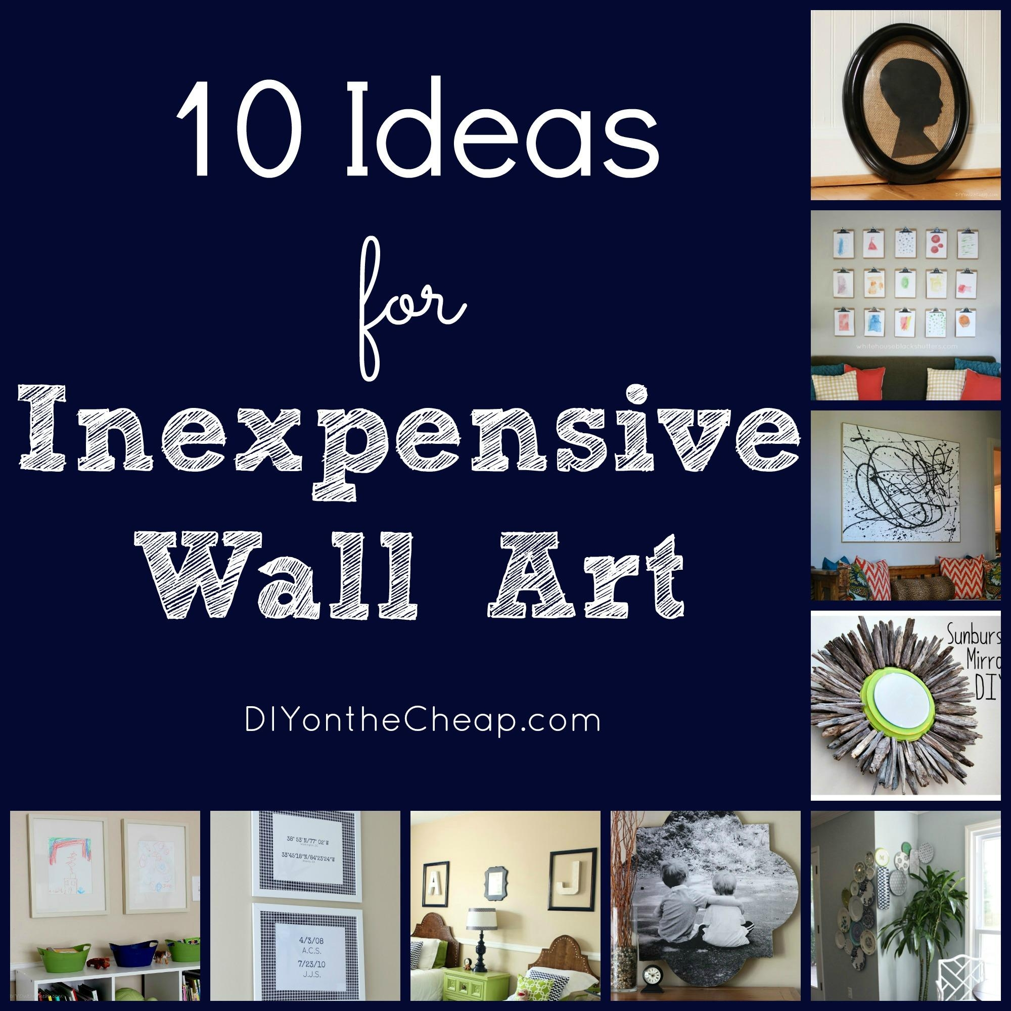 10 Ideas For Inexpensive Wall Art - Erin Spain inside Cheap Wall Art and Decor