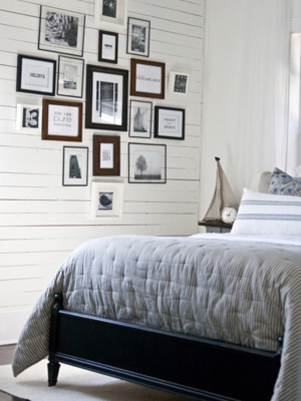 10 Ways To Display Bedroom Frames | Hgtv Pertaining To Bed Wall Art (Image 2 of 20)