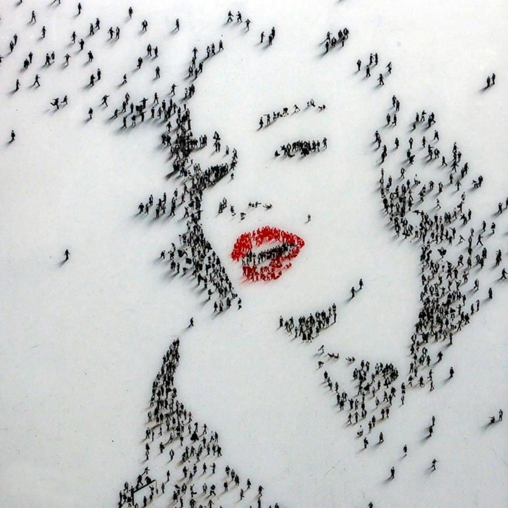 100% Little People Handmade Marilyn Monroe Oil Painting On Canvas with Marilyn Monroe Wall Art