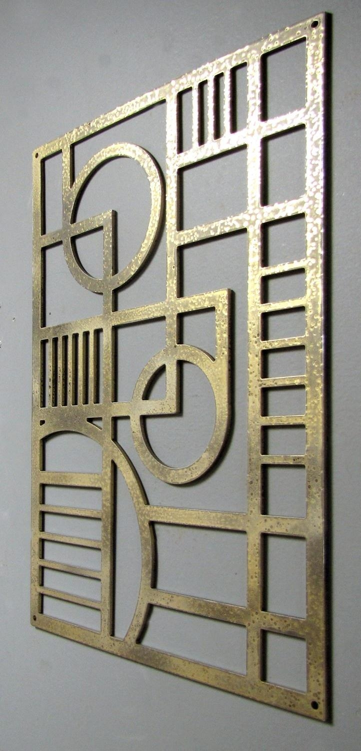 107 Best Art Deco Metal Work Images On Pinterest | Art Deco Art within Art Deco Metal Wall Art