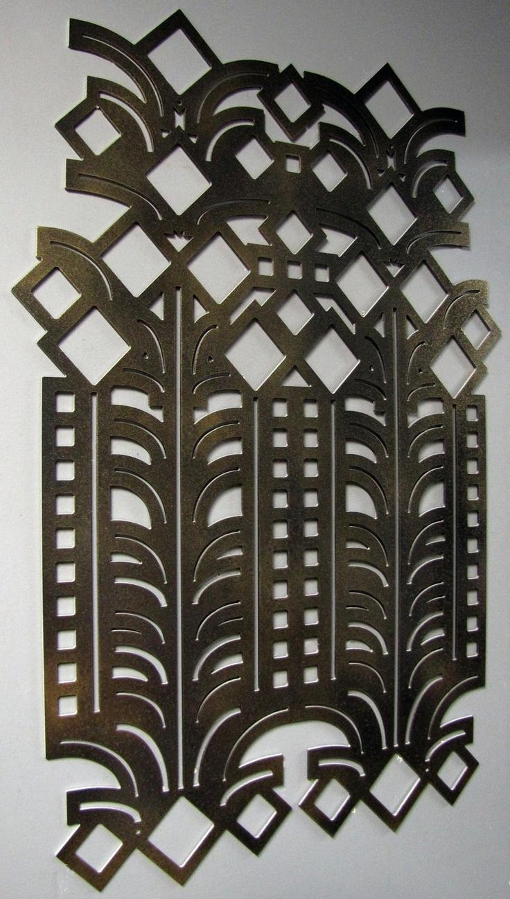 20 photos art deco metal wall art wall art ideas. Black Bedroom Furniture Sets. Home Design Ideas
