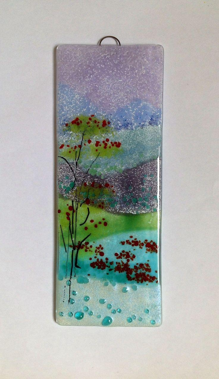 111 Best Fused Glass Wall Art – Panels – Hangings – Candle Screens Throughout Glass Wall Art Panels (Image 2 of 20)