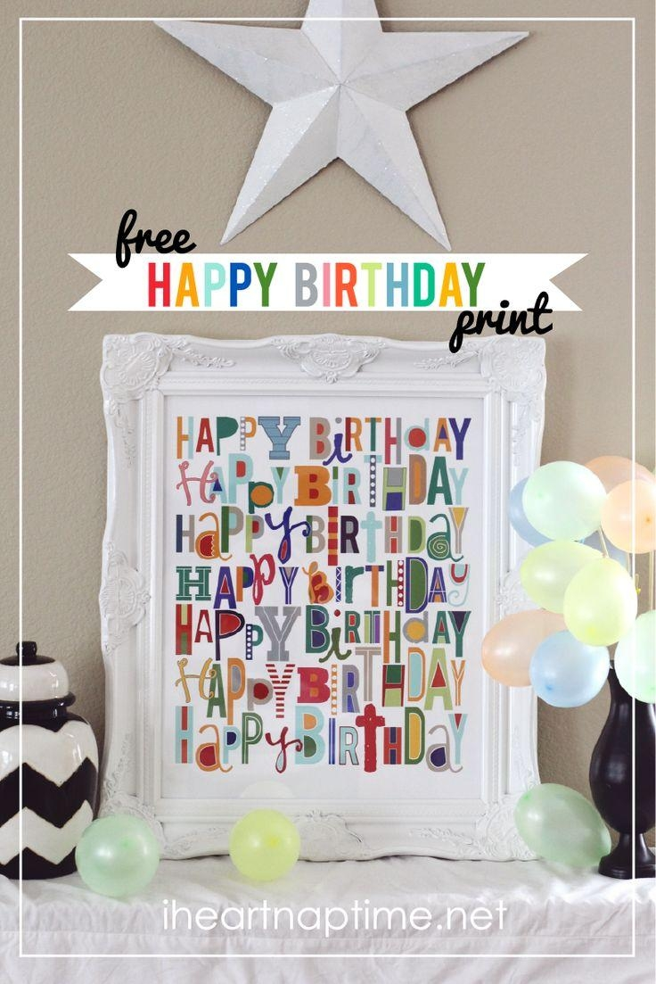 111 Best Happy, Happy Birthday, Baby! Images On Pinterest | Happy Within Happy Birthday Wall Art (Image 1 of 20)