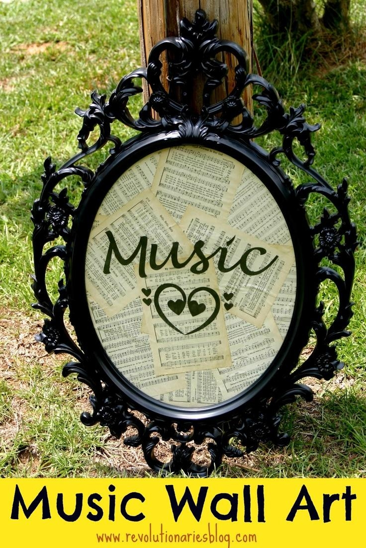 118 Best Decor {Music Themed Rooms} Images On Pinterest | Music throughout Lyricology Wall Art