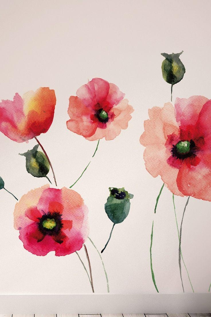 133 Best Art Inspiration Images On Pinterest | Windows, Paintings for Metal Poppy Wall Art