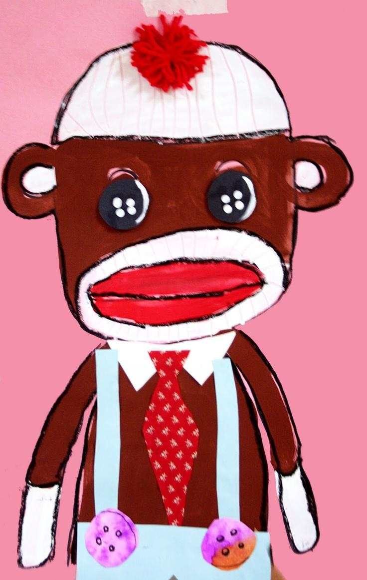 140 Best Year Of The Monkey 2016 Images On Pinterest | Drawings For Sock Monkey Wall Art (View 15 of 20)