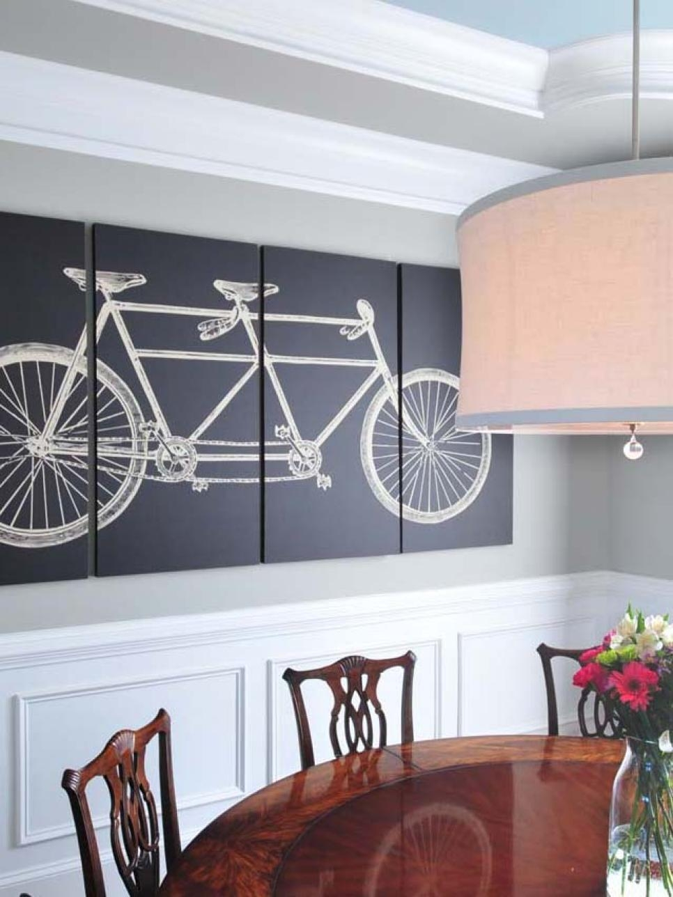 15 Dining Room Decorating Ideas | Hgtv Intended For Wall Art For Dining Room (Image 1 of 20)
