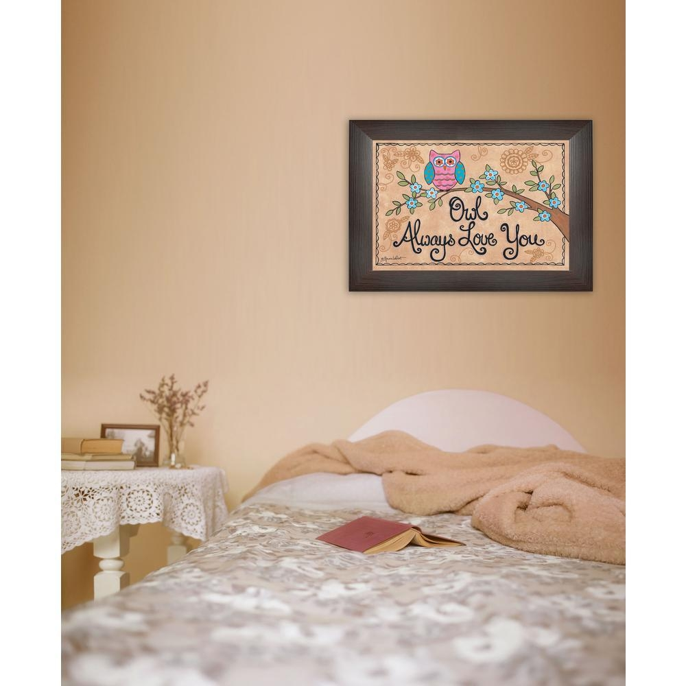 "15 In. X 21 In. ""owl Always Love You""annie Lapointe Printed regarding Owl Framed Wall Art"