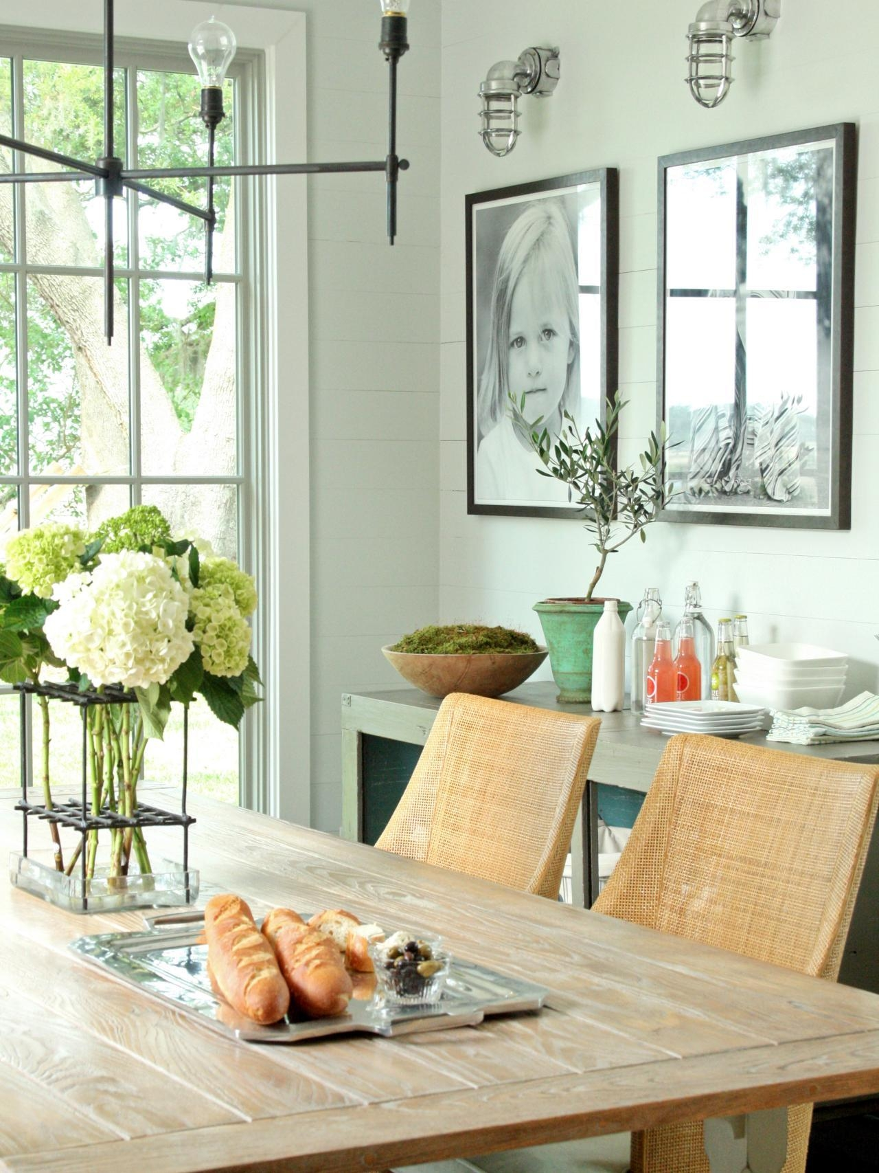 15 Ways To Dress Up Your Dining Room Walls | Hgtv's Decorating With Wall Art For Dining Room (View 7 of 20)