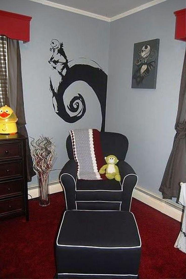 156 Best Bedroom Images On Pinterest | Live, Architecture And Jack Within Tim Burton Wall Decals (Image 1 of 20)