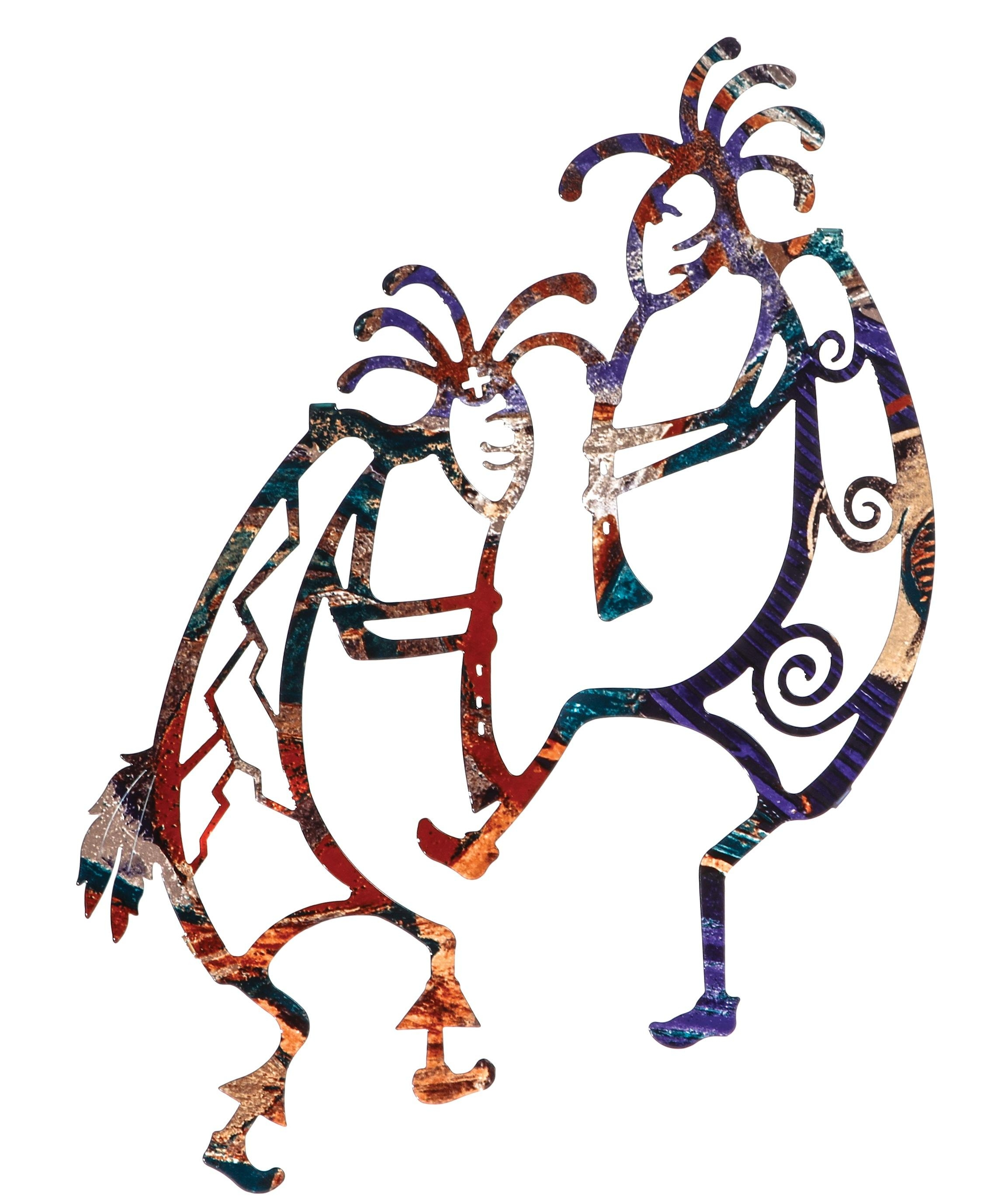 "16.5"" Two Kokopelli Togetherneil Rose 