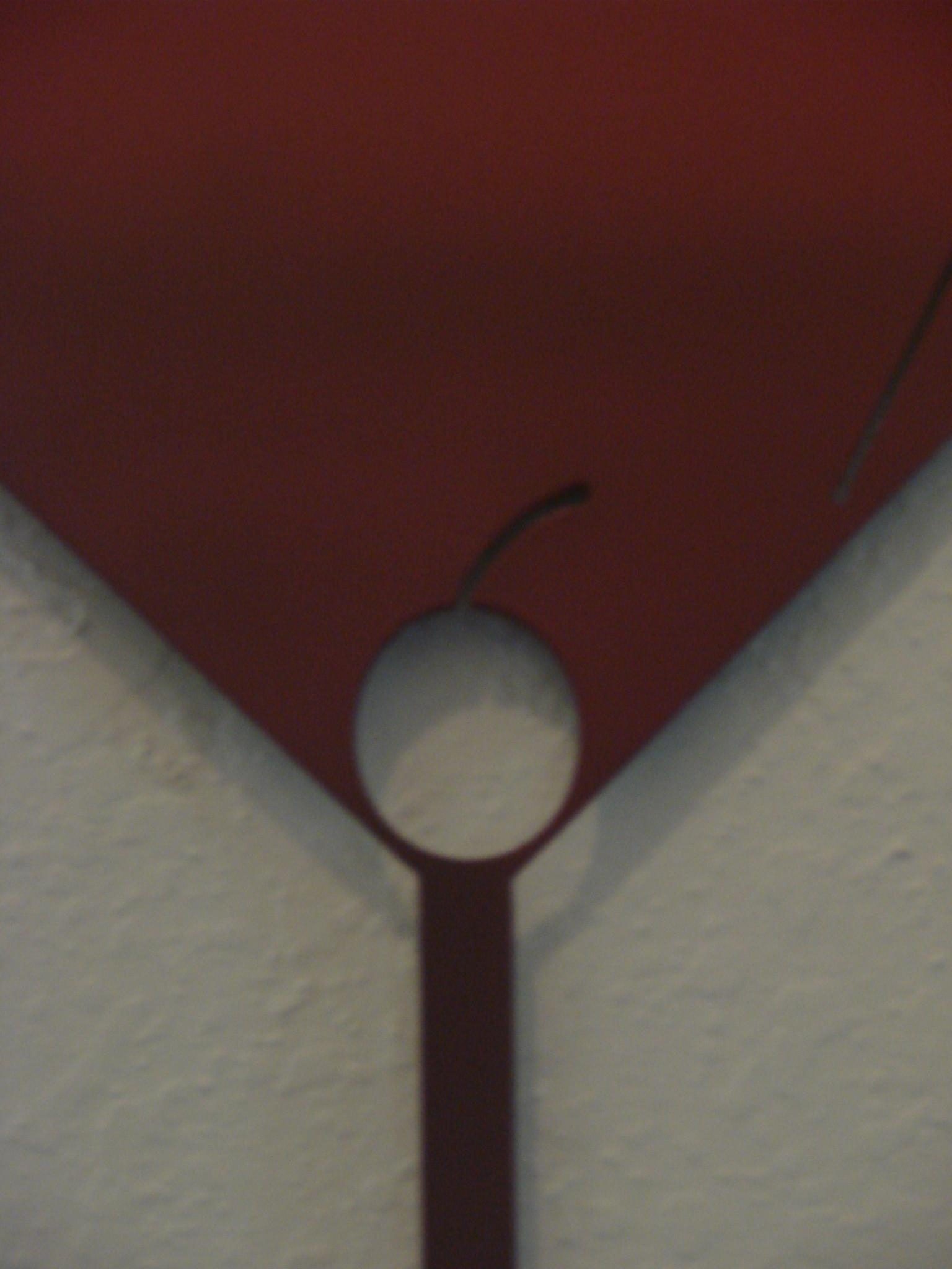 16 Gauge Ombre Red To Black Cosmopolitan Martini Glass Metal Wall Intended For Martini Metal Wall Art (View 13 of 20)