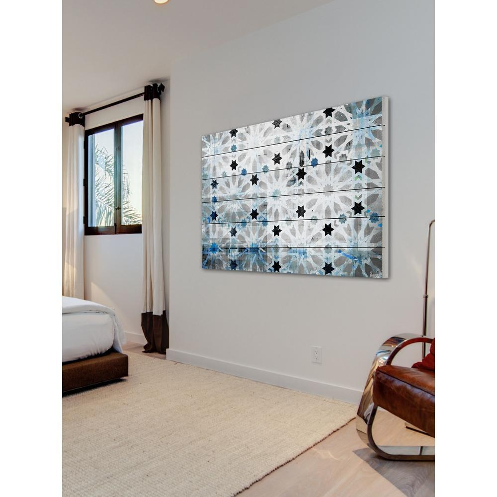 "16 In. H X 24 In. W ""bornos""parvez Taj Printed White Wood Wall with regard to White Wooden Wall Art"